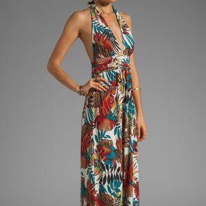 NWOT T-Bags Los Angeles Boho Maxi Halter Dress XS